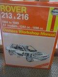Haynes Owners Workshop Manual - Rover 213 & 216 - 1984 to 1989