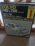 Haynes Owners Workshop Manual Volvo 740 and 760 (petrol) 1982 to 1989