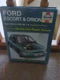 Haynes Service & repair manual - Ford Escort and Orion - Sept 1990 to 2000 Petrol